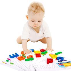 益智玩具 英文拼字 字母書寫早教學習組 拼圖 字卡