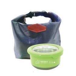 英國熊 馬卡龍保鮮盒730ml+扣環保溫保冷袋 UP-A038L+AK-08073