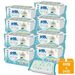 日本LEC 新款迪士尼三眼怪-純水99%濕紙巾箱購-80抽x24包入
