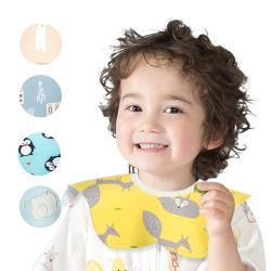 【5條入】MuslinTree嬰兒口水巾寶寶圍兜360度圓形花瓣防水圍嘴