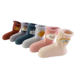 【4雙入】兒童短襪 嬰幼寶寶襪子卡通鬆口防滑襪