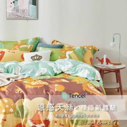 夢之語 3M頂級天絲七件式床罩組 (快樂森林) 雙人