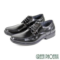 GREEN PHOENIX 線條剪裁縫線綁帶輕量皮鞋/紳士鞋/素食皮鞋(男鞋)T59-10833