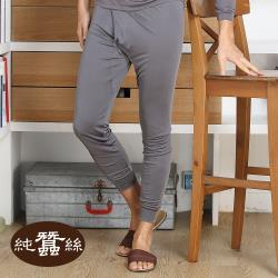 【岱妮蠶絲】純蠶絲42針110G衛生長褲AM0999N-鐵灰(AMCABN99)