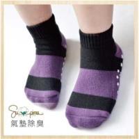 【DR.WOW】 Supima機能抗菌萊卡除臭運動氣墊襪-兒童