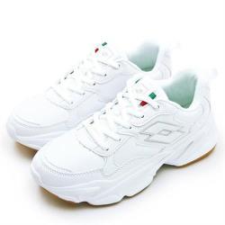 【LOTTO】男 經典厚底復古多功能運動鞋 老爹鞋系列 白色學生鞋(白灰 0569)