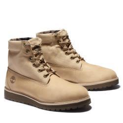 Timberland 男款淺褐色磨砂革反摺6吋靴A2DUKE82