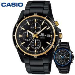 CASIO 卡西歐 EFR-526BK 帥氣疾黑賽車碼表計時鐵帶錶