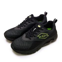 【LOTTO】男 專業編織避震氣墊慢跑鞋 NOVA+ 新星系列(黑螢綠 1600)