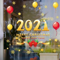 任-時尚壁貼 -2021聖誕快樂 AMJ936
