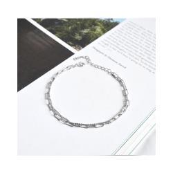 【DINA 蒂娜珠寶】極簡街頭 925純銀手鍊 (DL61159)