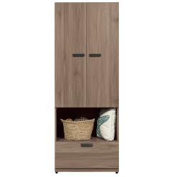 H&D 亞力士2.5尺雙門單吊衣櫃