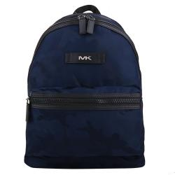MICHAEL KORS-銀MK皮標迷彩尼龍手提/後背包(海軍藍)