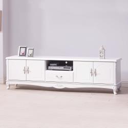 Boden-艾莉雅7尺法式歐風白色電視櫃/長櫃/視聽櫃