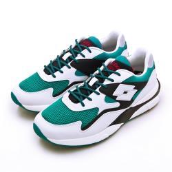 【LOTTO】男 經典厚底復古多功能運動鞋 SIRIUS 老爹鞋系列(白綠黑 1215)