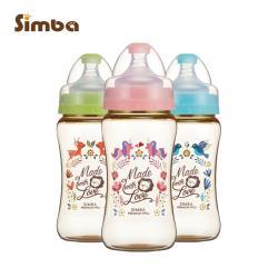 【小獅王辛巴】桃樂絲PPSU寬口雙凹中奶瓶3支組(270ml)