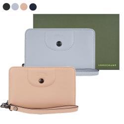 LONGCHAMP LE PLIAGE CUIR系列小羊皮手掛式零錢夾(多色選)