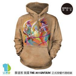 摩達客 (預購)美國The Mountain 印第安彩虹舞 環保藝術長袖連帽T恤