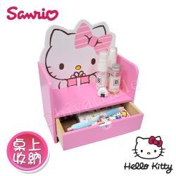 Hello Kitty  可愛凱蒂貓 單層抽屜收納盒 桌上收納 文具收納(正版授權台灣製)