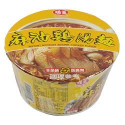 【味王】麻油雞湯碗麵(85g)