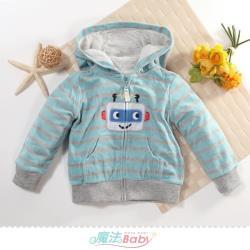 魔法Baby 1~3歲嬰幼兒外套 秋冬厚絨毛極暖連帽外套~k61284