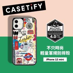 Casetify iPhone 12 mini 輕量耐衝擊保護殼-倫敦印象(黑)