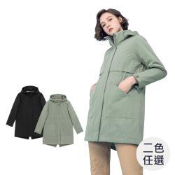 GIORDANO 女裝長版魚尾連帽外套 (多色任選)