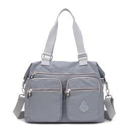 【KISSDIAMOND】防潑水超大容量手提媽媽包-6615(手提/肩背/斜背/大容量/烟灰色)