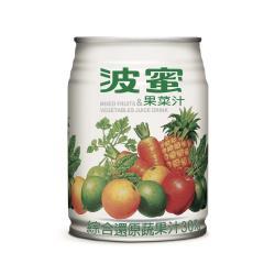 波蜜 果菜汁 240ml(24罐/箱)
