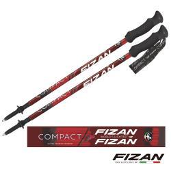 FIZAN  超輕三節式健行登山杖2入特惠組 酒紅朱雀  (FZS20.7102.FRF) 秋冬新款 彈性佳