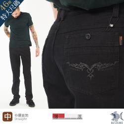 NST Jeans 特大尺碼 銀翼殺手 洗鍊黑牛仔男褲 -中腰直筒 台灣製 398(3812)