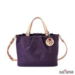 【satana】美好經典多隔層手提肩背包-紫水晶