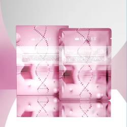 蔻妍COSSET 英國進口熬夜必備3D立體貼合設計蝦青素凍齡抗老面膜(5入/盒)