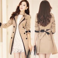 A3時尚打造-新款質感亮麗中長版風衣外套-預購