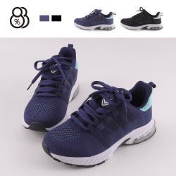 【88%】3CM休閒鞋 舒適減壓氣墊 百搭網格透氣 厚底綁帶運動休閒鞋