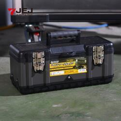 日本JEJ TK-390黑武士鋼製雙層分隔式手提工具箱(39x18.5x17cm)