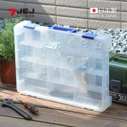日本JEJ 日本製可調式分隔手提零件箱-21格