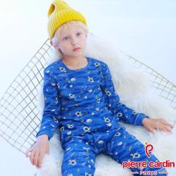 Pierre Cardin皮爾卡登 男兒童100%純棉長袖衛生衣褲組(KD270012迷彩火箭)