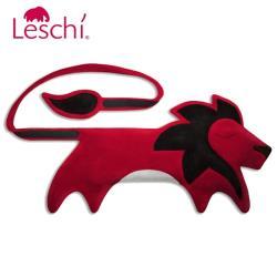 德國Leschi萊思綺 舒緩後背暖腰帶 熱敷/冷敷袋-獅子造型(火紅色)