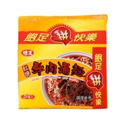 【味王】紅燒牛肉湯麵(袋))83g*5包入(量販包)