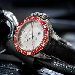 Hamilton 漢米爾頓卡其海軍 1000米鈦金屬蛙人機械錶(H77805380)灰蛙