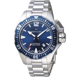 Hamilton 漢米爾頓卡其海軍系列蛙人機械錶(H77705145)42mm/藍蛙