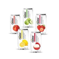 GLINTER氣泡飲(口味選:草莓/青蘋果/檸檬/荔枝風味 350ml)*24罐/組