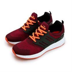 【DIADORA】男 迪亞多那 輕量飛織慢跑鞋 飛行先鋒系列(紅黑橘 6882)
