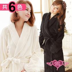 天使霓裳 任選-柔軟珊瑚絨綁帶睡袍(共6色F) AB1294