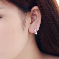 梨花HaNA 無耳洞韓國星月的對話流蘇.不對稱耳環