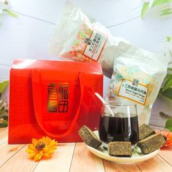 【喜福田】手工黑糖磚綜合禮盒(薑母/紅棗桂圓)  38g*8入*4袋/組