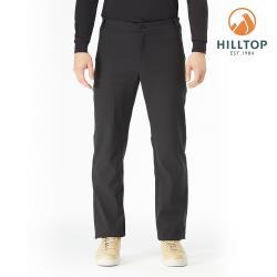 【hilltop山頂鳥】男款超潑水保暖長褲H31MM0黑美人