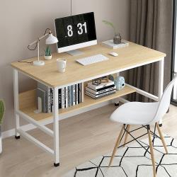 [生活藏室] 簡約大桌面置物書桌/工作桌/電腦桌-100cm寬