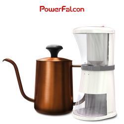 PureFresh 醇鮮咖啡磨豆機(三代)+CaféFalcon 咖啡手沖壺(600ML)